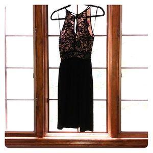 Morgan & co black lace top dress 3/4